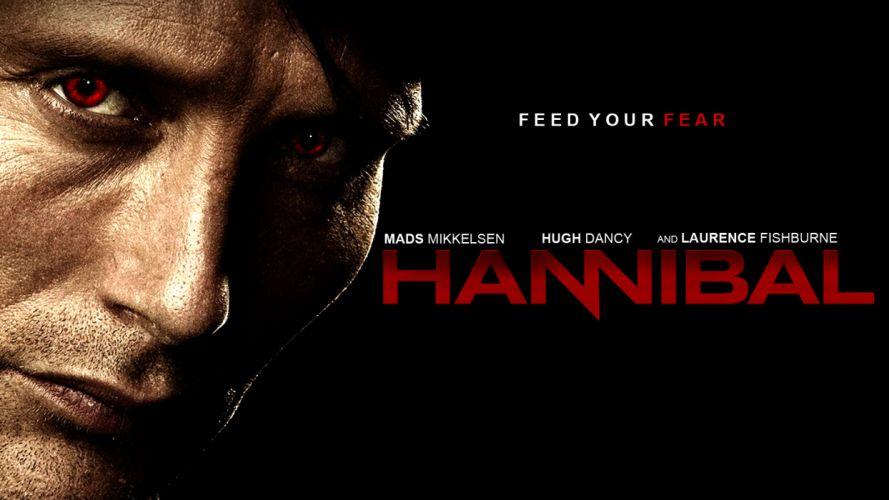HANNIBAL drama horror television poster h wallpaper