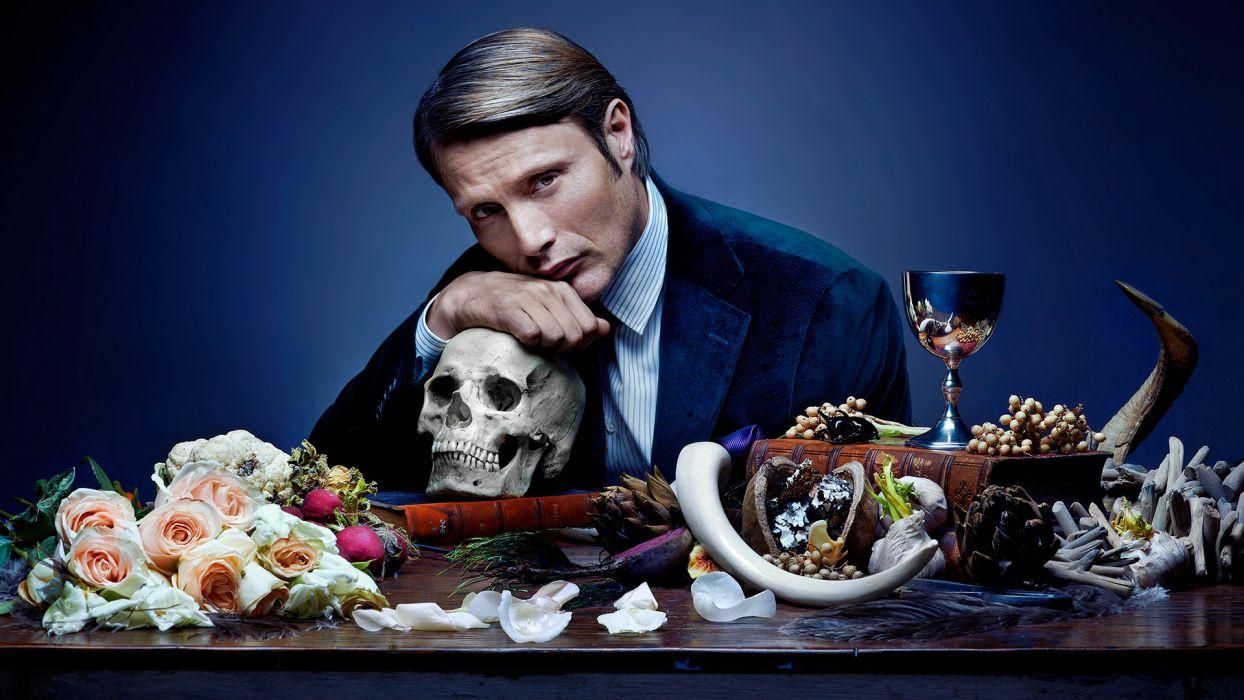 HANNIBAL drama horror television skull     j wallpaper