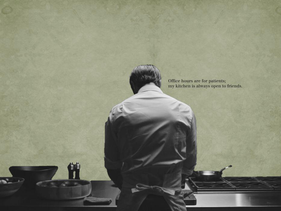 HANNIBAL drama horror television poster dark      h wallpaper