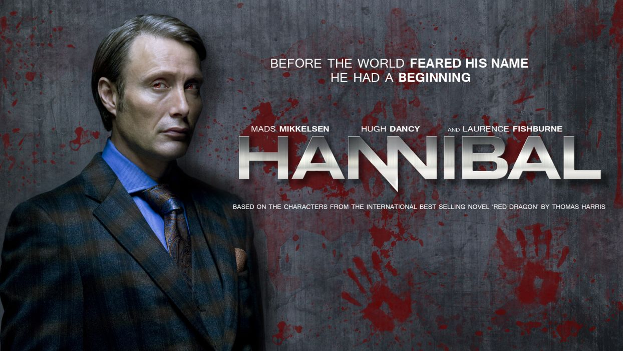 HANNIBAL drama horror television poster blood        g wallpaper