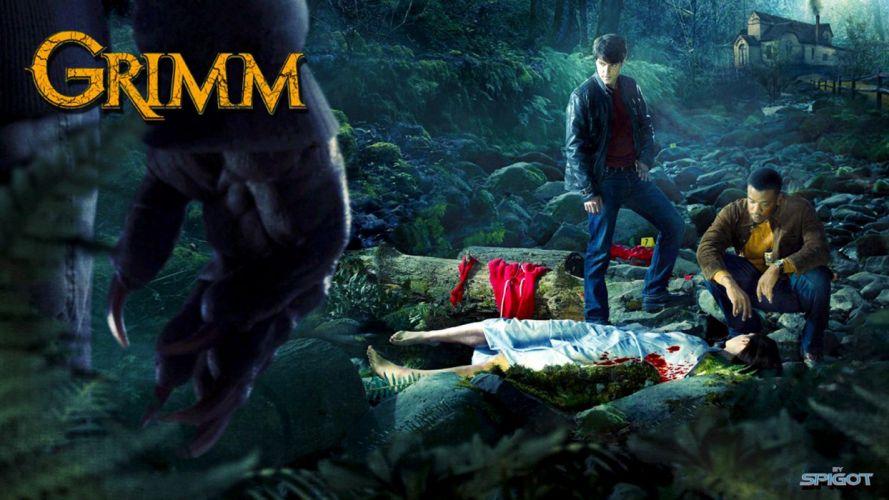 GRIMM supernatural drama horror fantasy television blood poster g wallpaper