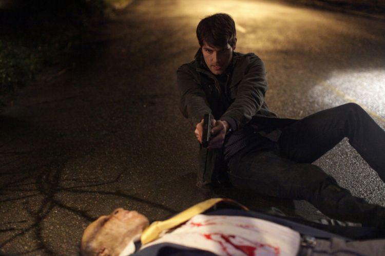 GRIMM supernatural drama horror fantasy television weapon gun pistol blood monster g wallpaper