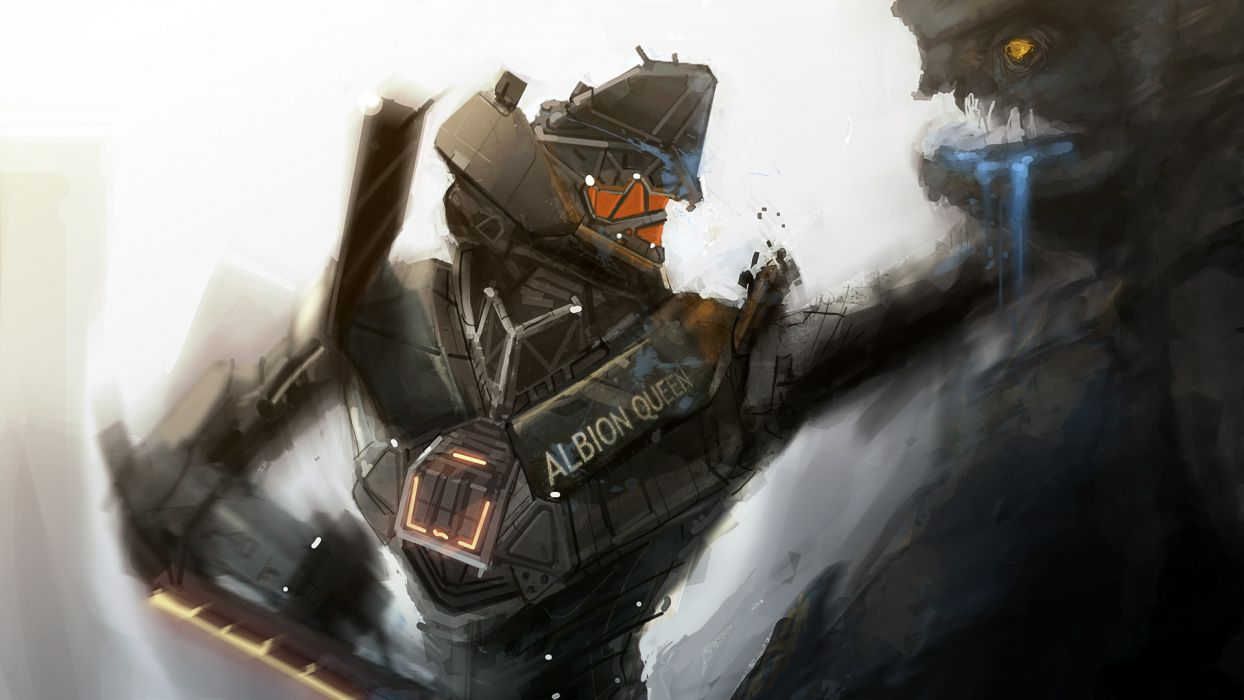 PACIFIC RIM mecha robot warrior sci-fi     f wallpaper