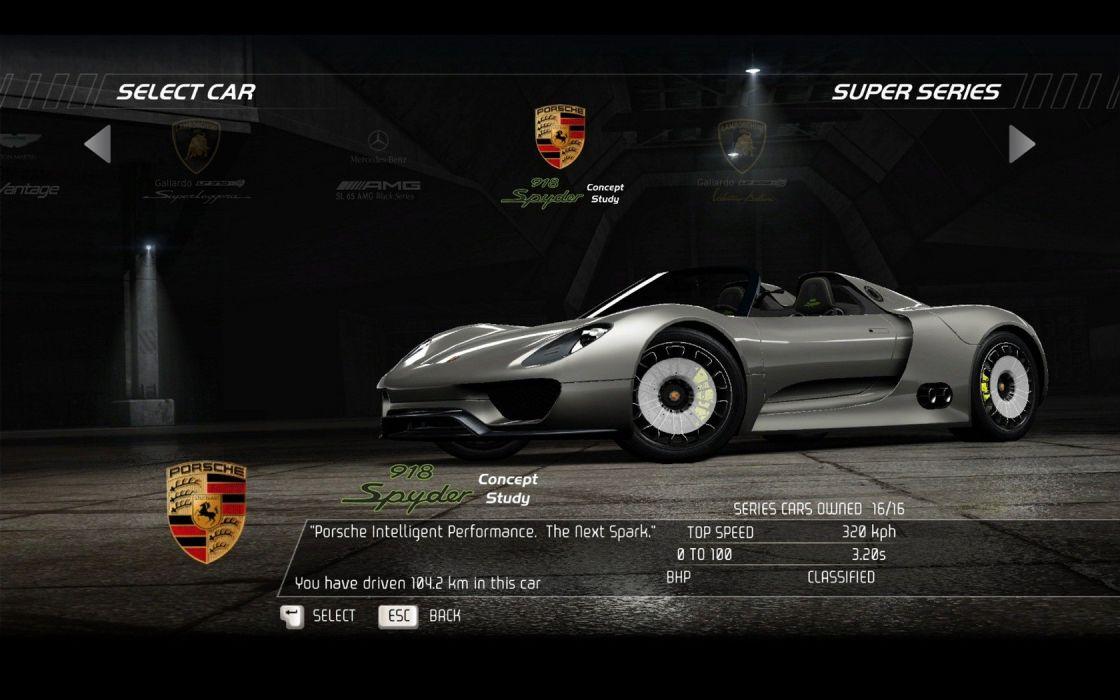 video games cars vehicles Porsche 918 Porsche 918 Spyder Need for Speed Hot Pursuit pc games wallpaper