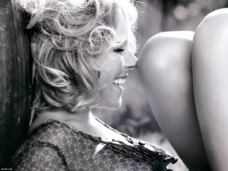 women monochrome laughing Eleonora Pedron wallpaper