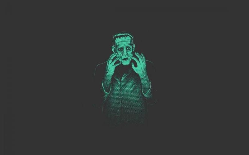 light green Frankenstein Pitch Black wallpaper