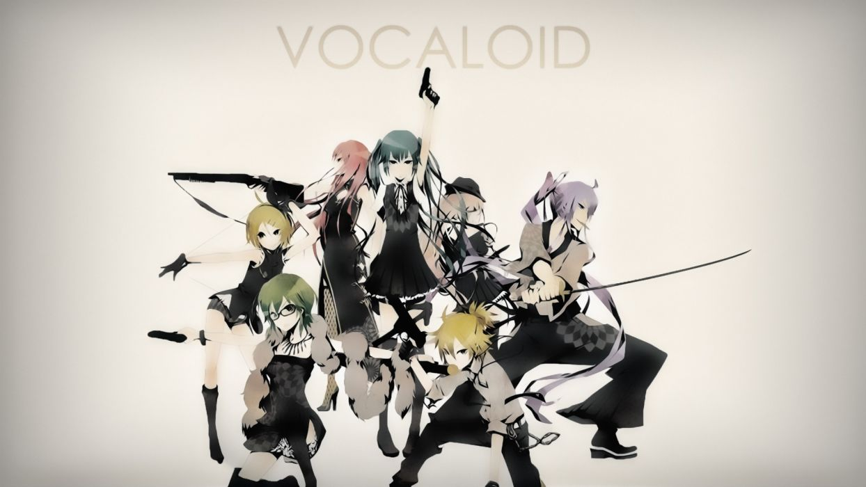 Vocaloid Hatsune Miku Megurine Luka Kagamine Rin Kagamine Len Megpoid Gumi Kamui Gakupo wallpaper