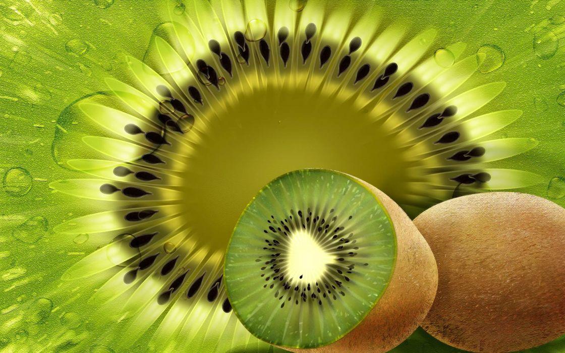 artistic fruits CGI kiwi wallpaper