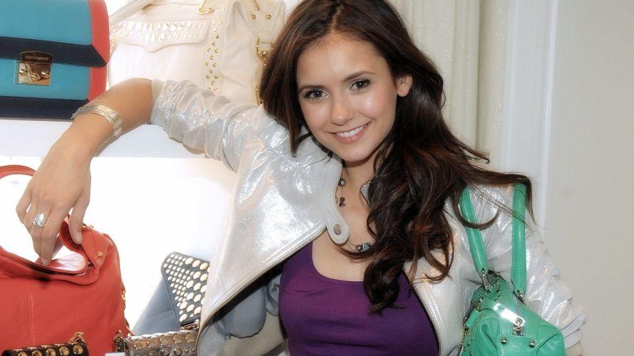 brunettes women celebrity Nina Dobrev wallpaper