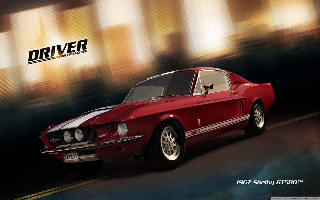 video games San Francisco driver Shelby GT500 wallpaper