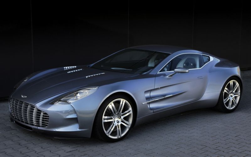 cars vehicles supercars Aston Martin One-77 Aston Martin front angle view wallpaper
