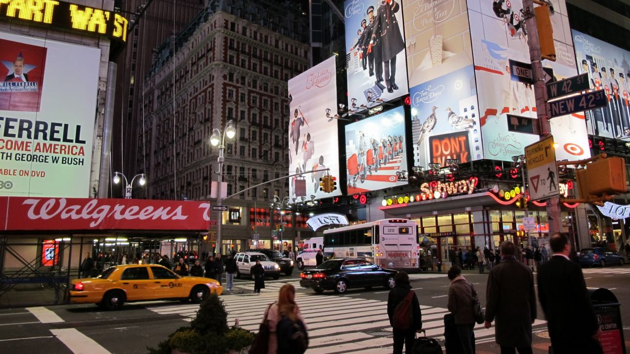 landscapes cityscapes USA New York City Manhattan Broadway wallpaper