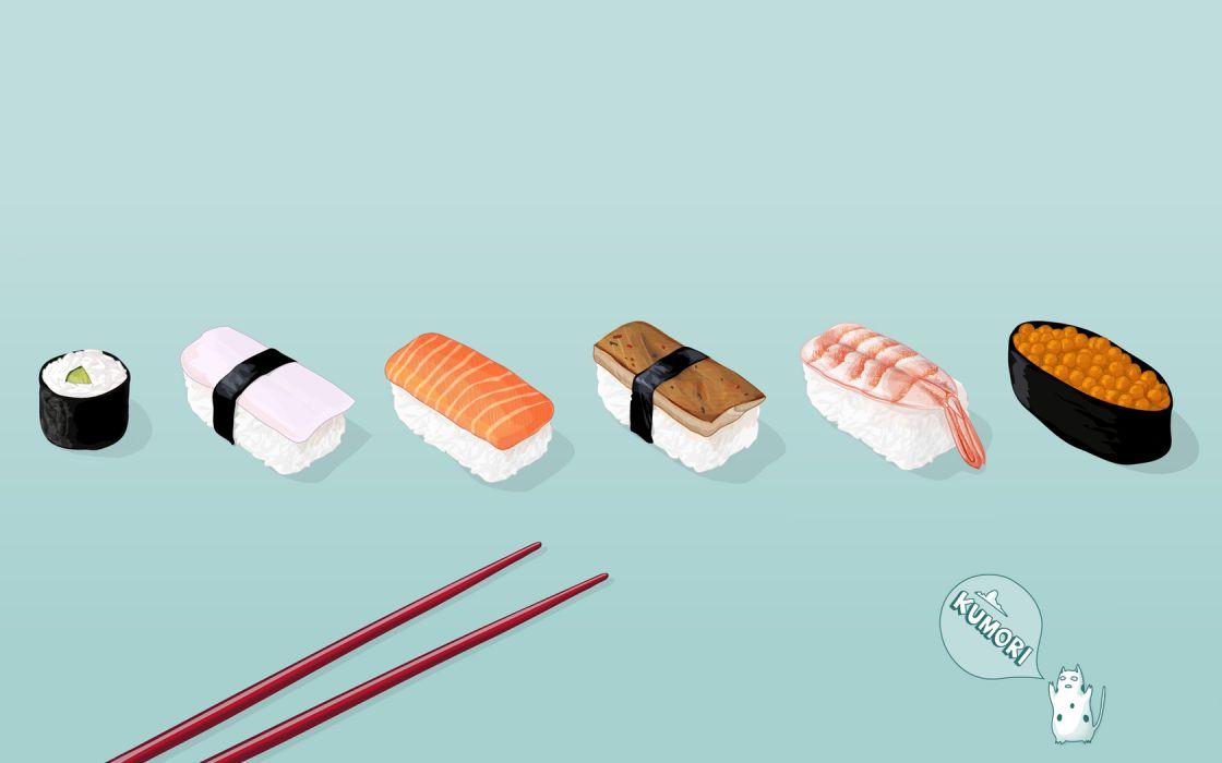 food sushi chopsticks wallpaper