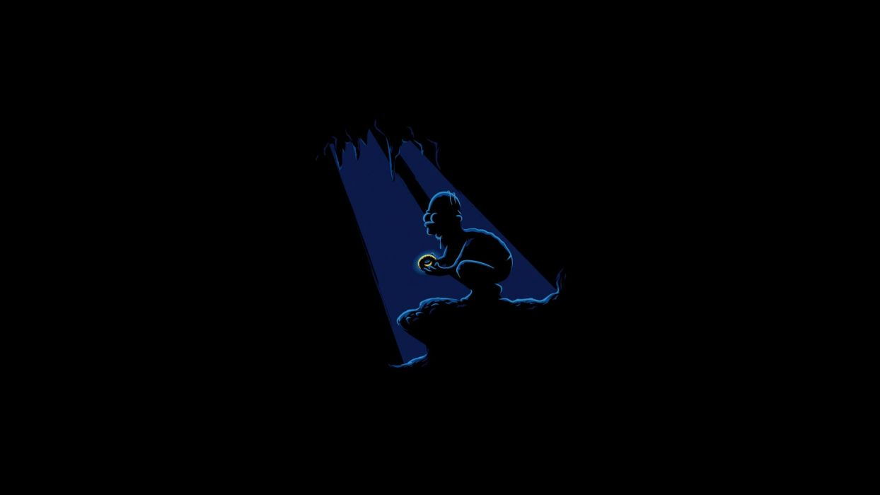 Homer Simpson The Lord of the Rings The Simpsons crossovers wallpaper