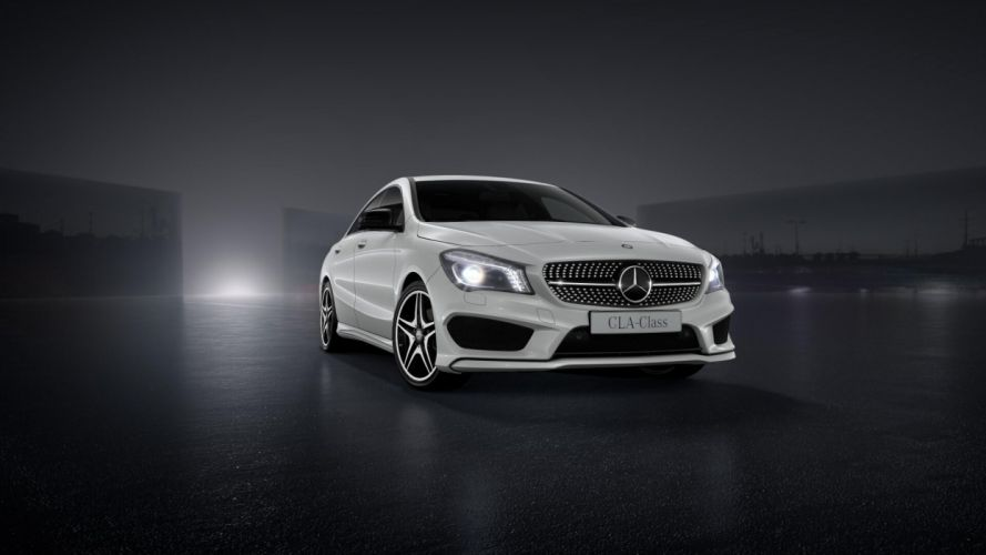 cars AMG white cars Mercedes Benz auto CLA cla 200 wallpaper