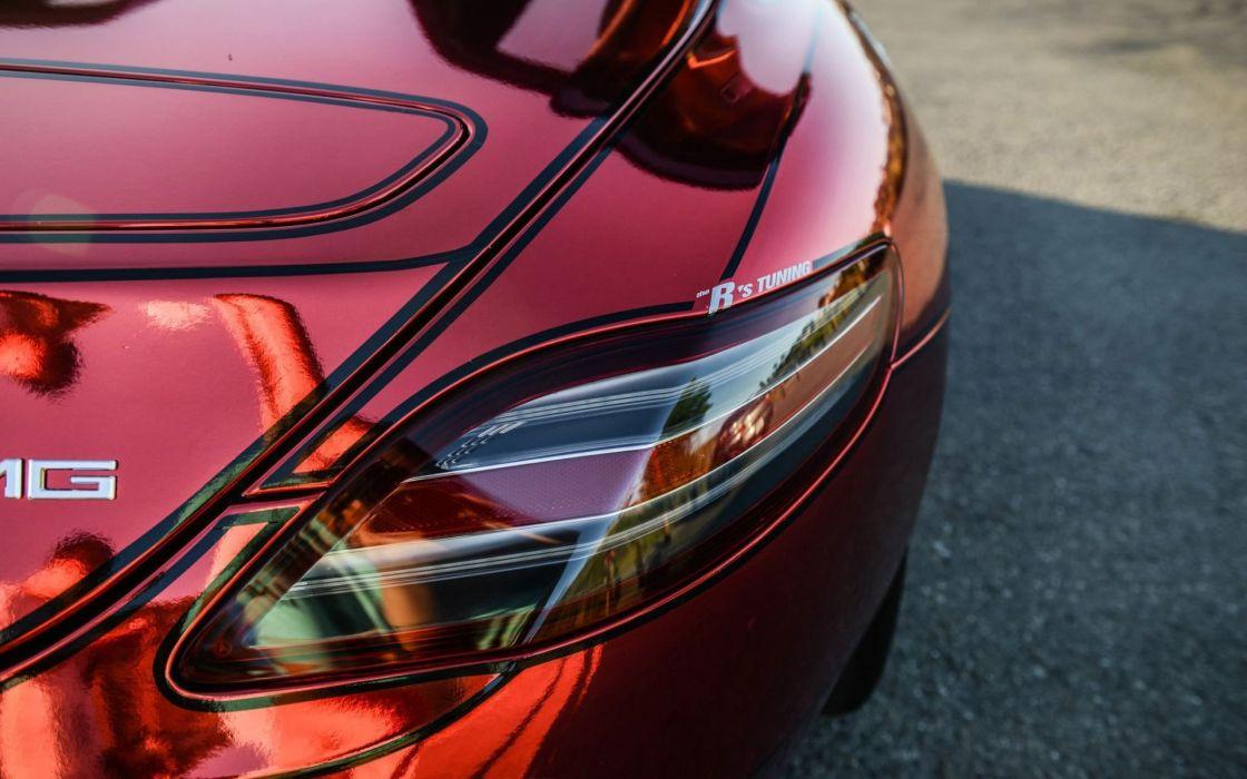 red cars Mercedes-Benz SLS AMG Mercedes Benz mercedes benz sls Mercedes Benz Sls Amg exterior wrap body wallpaper