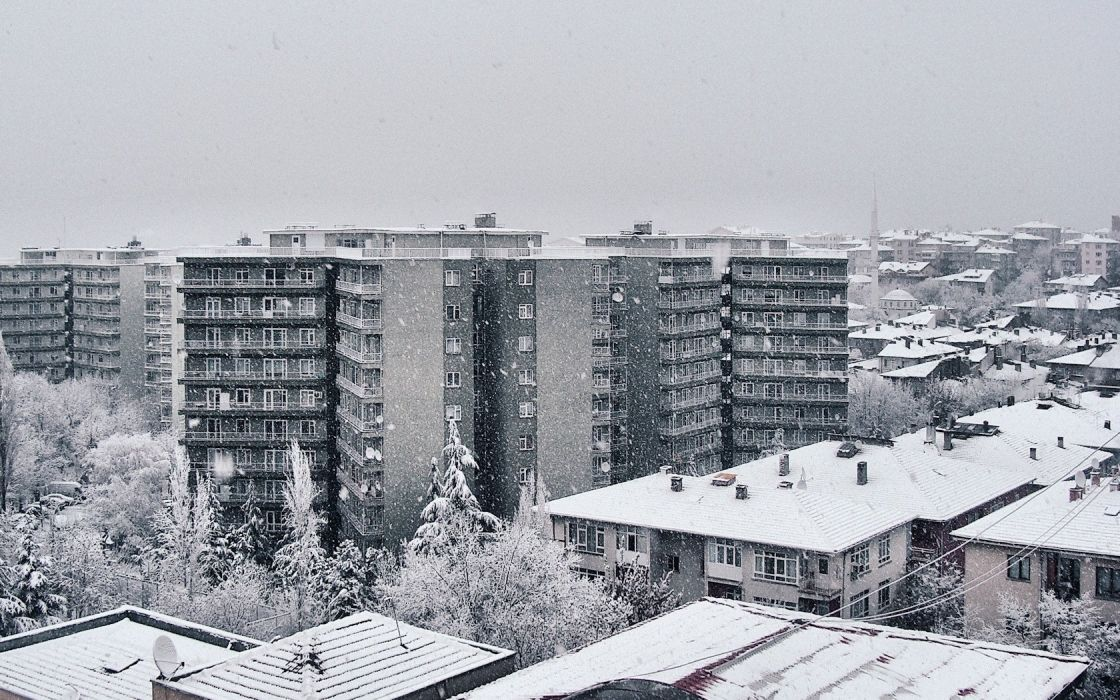 winter Russia urban wallpaper