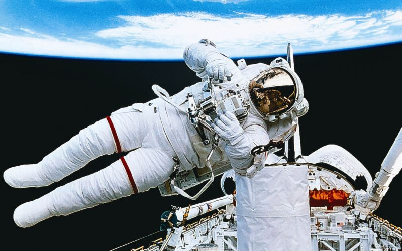 outer space Earth astronauts orbit space walk wallpaper