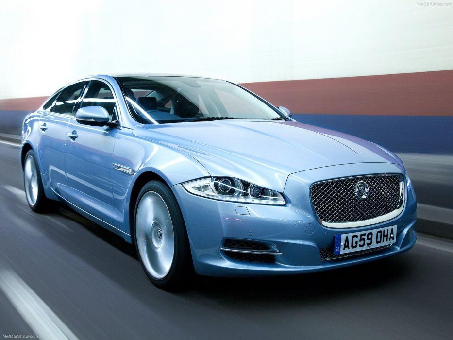blue cars Jaguar Jaguar XJ wallpaper