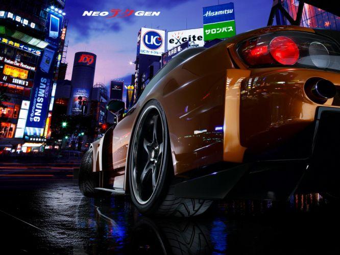 cityscapes Honda cars Honda S2000 Virtual wallpaper