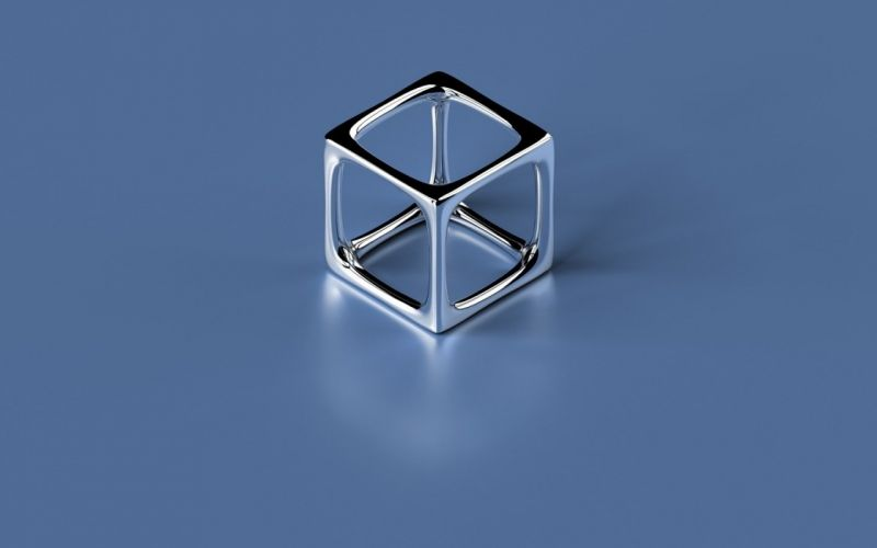 minimalistic metal shapes cubes objects wallpaper
