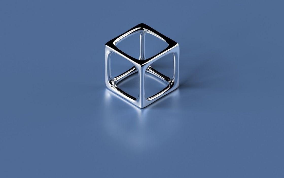 minimalistic metal shapes cubes objects wallpaper