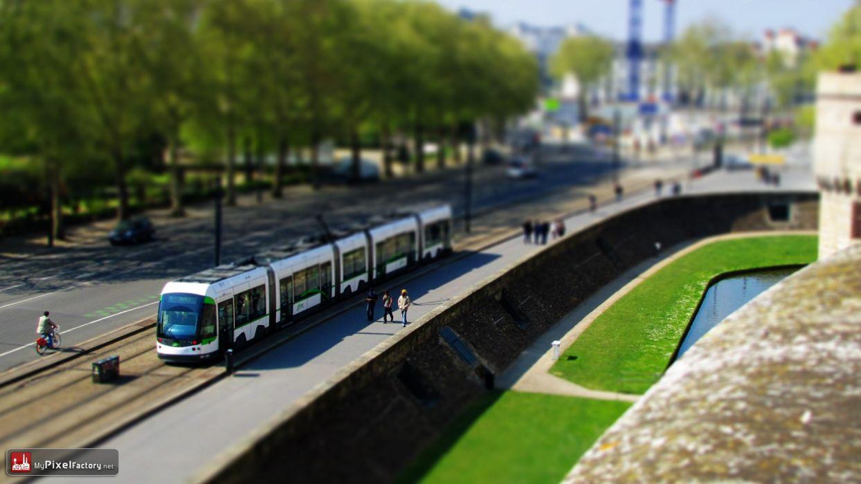 minimalistic cityscapes urban metro tilt-shift wallpaper