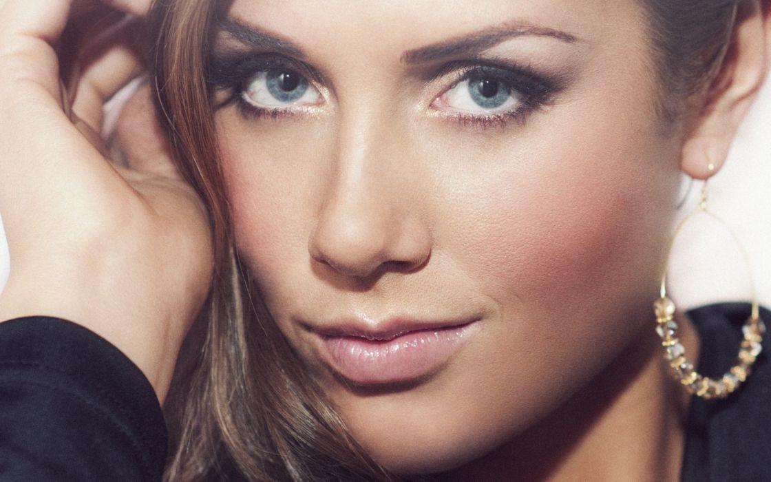 blondes women blue eyes Norwegian smiling singers Tone Damli Aaberge faces norwegian girls wallpaper