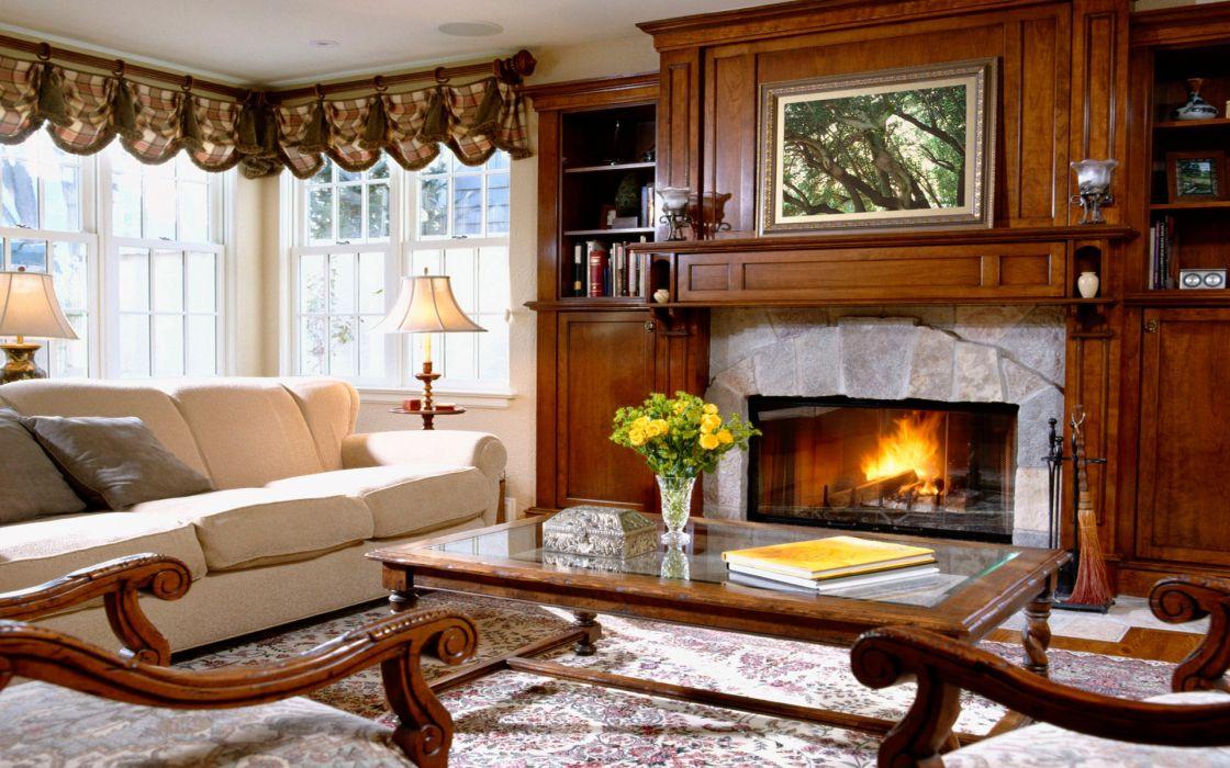 interior living room fireplaces wallpaper