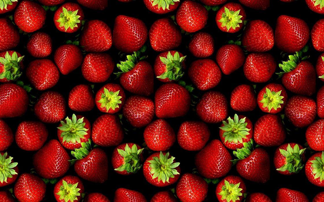 nature fruits summer strawberries berries wallpaper