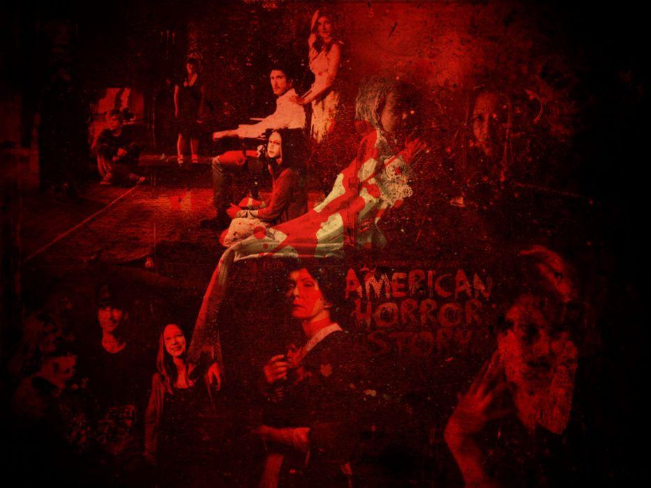 AMERICAN-HORROR-STORY horror thriller erotic american story poster dark blood  f wallpaper