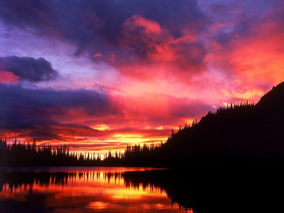 sunrise National Park Washington Mount Rainier wallpaper