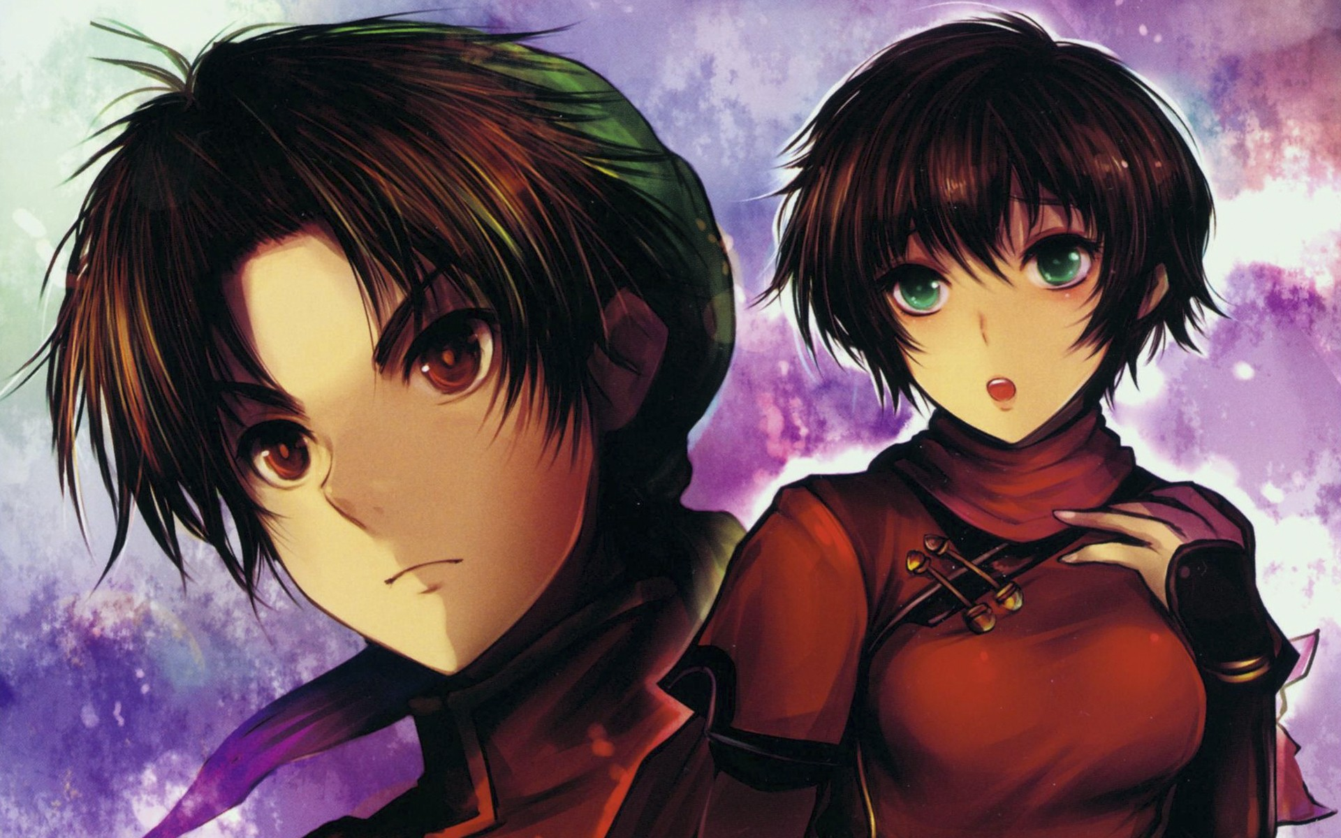 Green Eyes Short Hair Artwork Anime Boys Anime Girls Faces Akarasamana Wallpaper 1920x1200 205396 Wallpaperup
