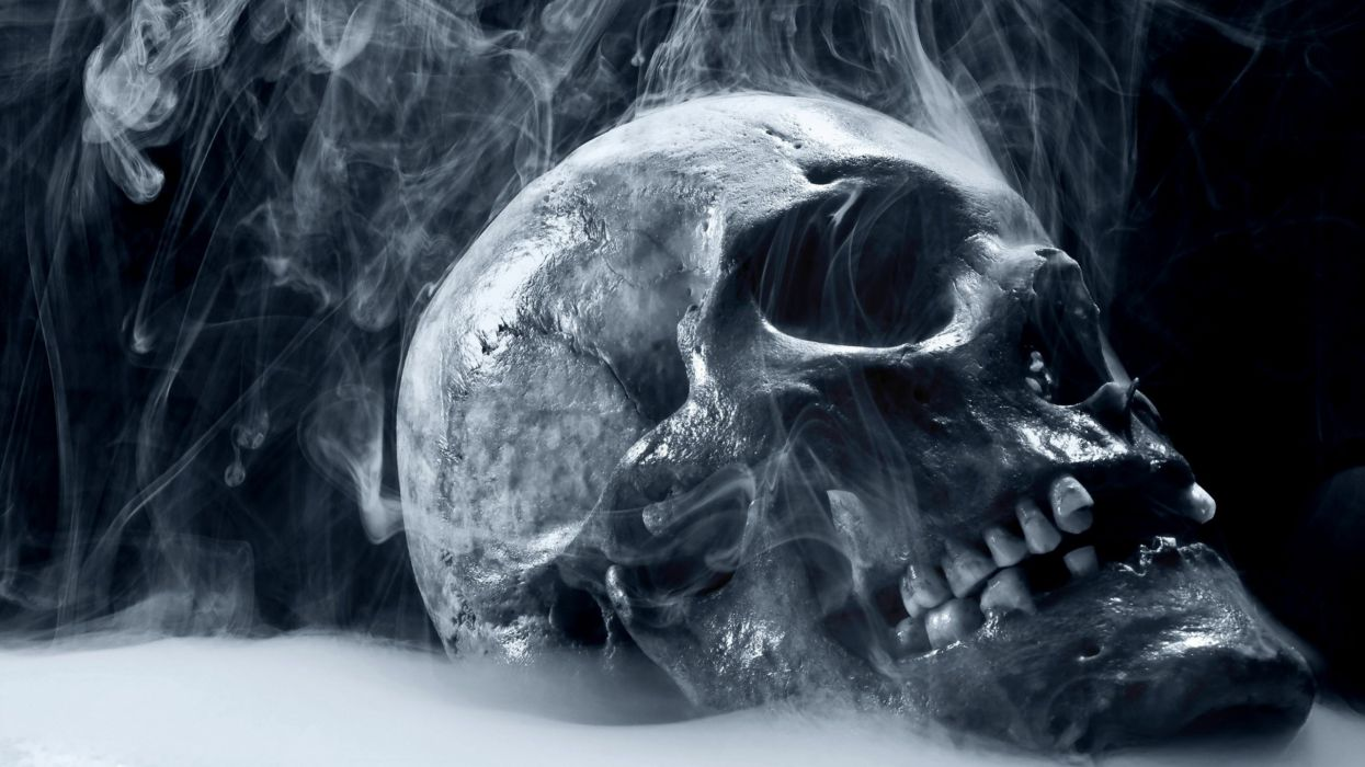 skulls death dead smoke wallpaper