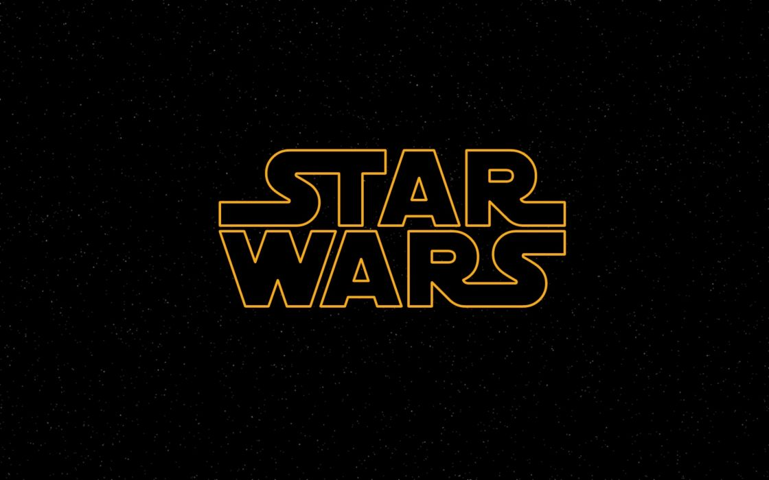 Star Wars logos black background wallpaper