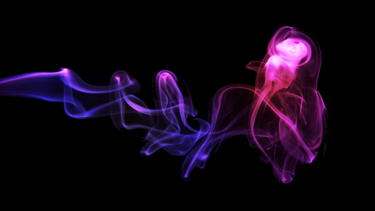 Star Wars minimalistic pink smoke purple rainbows simple background colors wallpaper