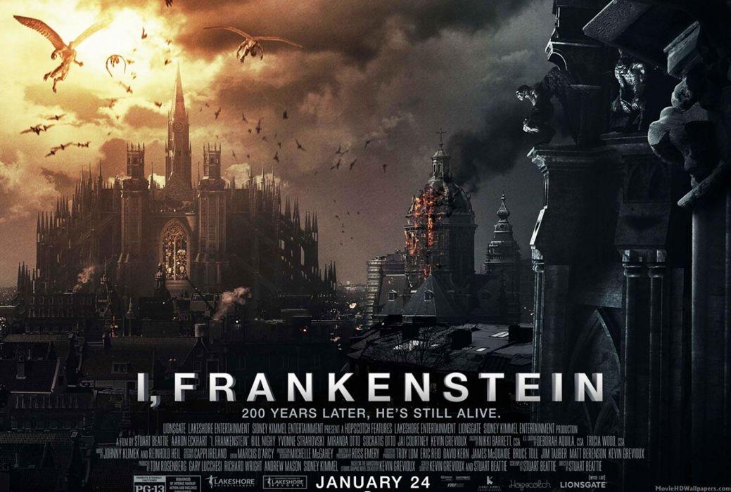 I-FRANKENSTEIN horror action dark frankenstein movie sci-fi fantasy poster  f wallpaper