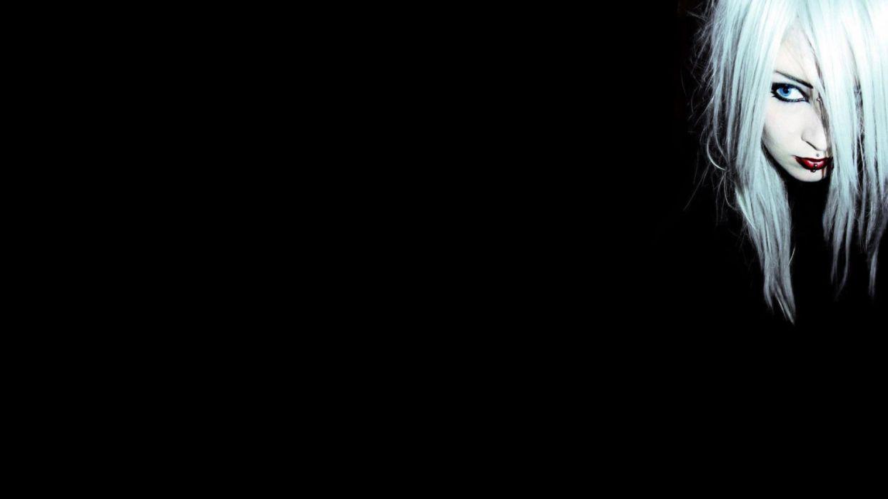 women black dark wallpaper