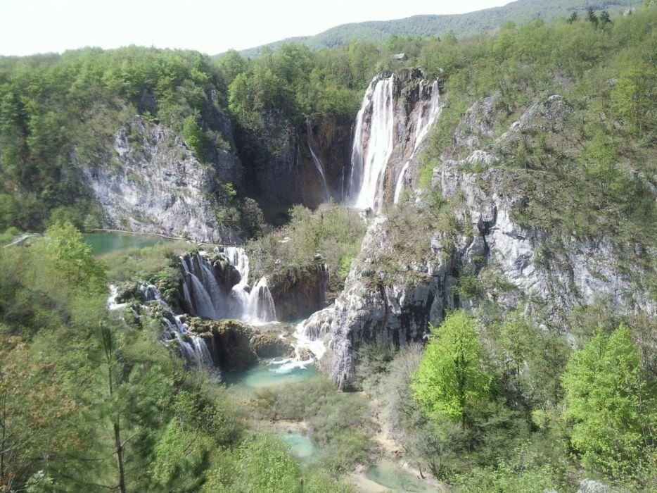 water nature lakes waterfalls National Park plitvice wallpaper