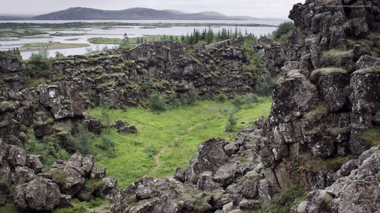 landscapes nature rocks Iceland wallpaper