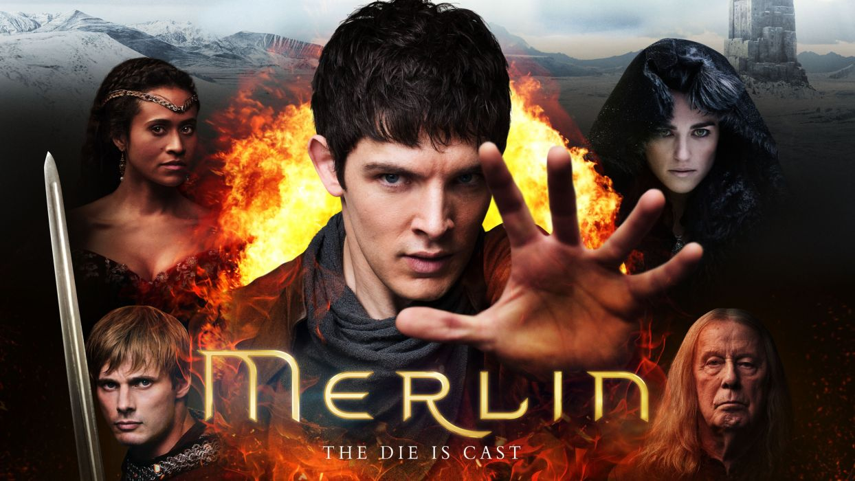 MERLIN family drama fantasy adventure television poster    g wallpaper