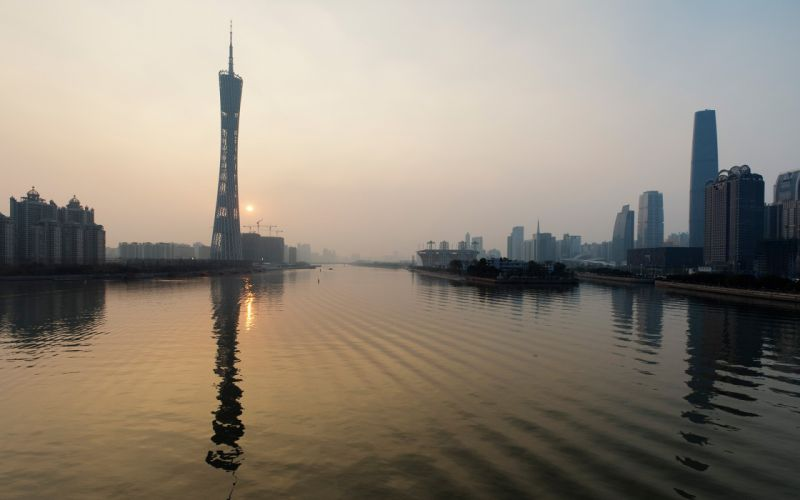 cityscapes tower China Canton Tower wallpaper