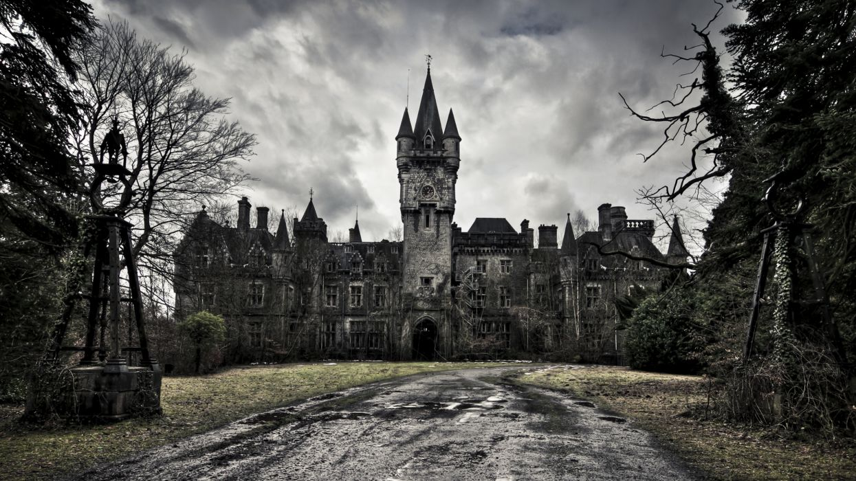 victorian abandoned palace old buildings wallpaper