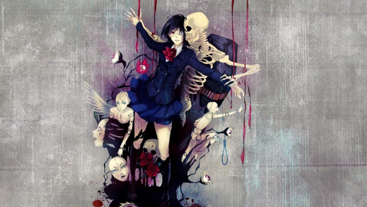 eyes anime anime girls Another (anime series) wallpaper