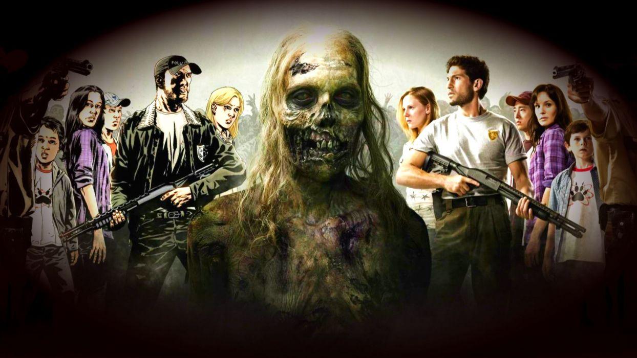 THE WALKING DEAD horror drama dark zombie      rw wallpaper