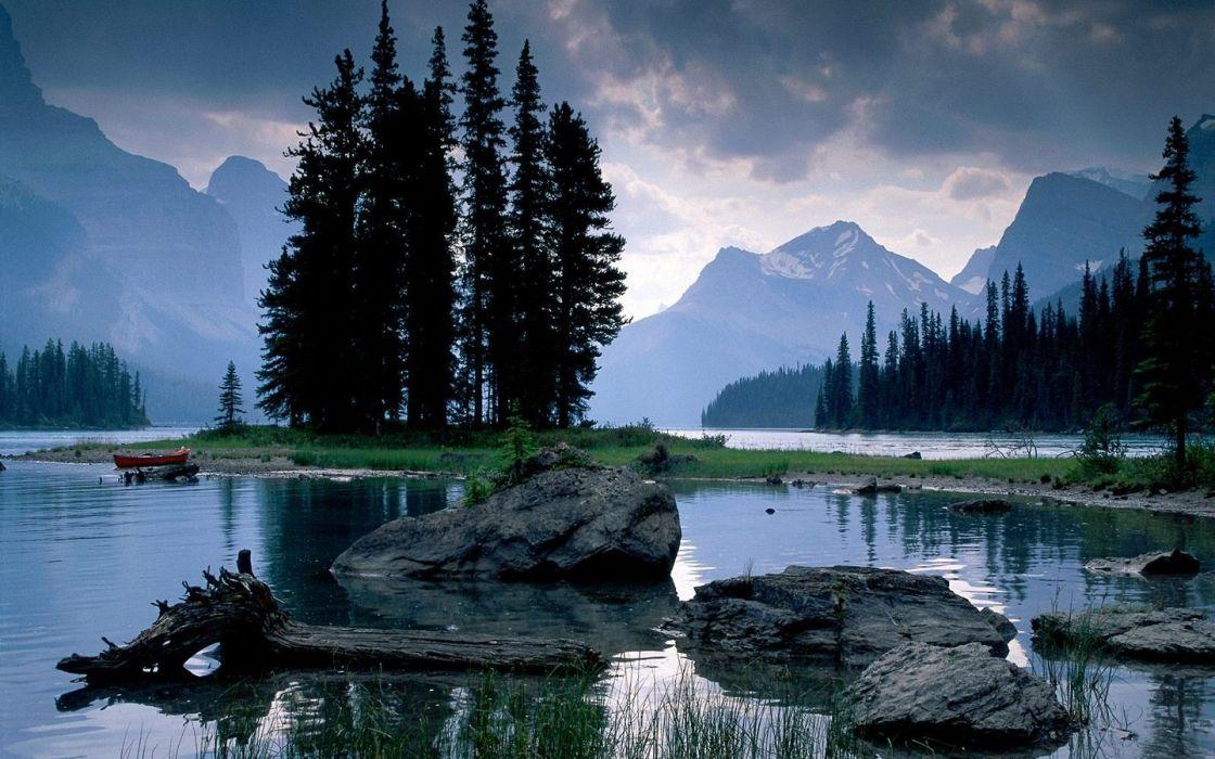nature Alberta spirit National Park Jasper National Park Maligne Lake wallpaper