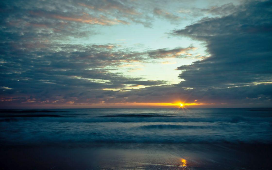 sunset sea wallpaper