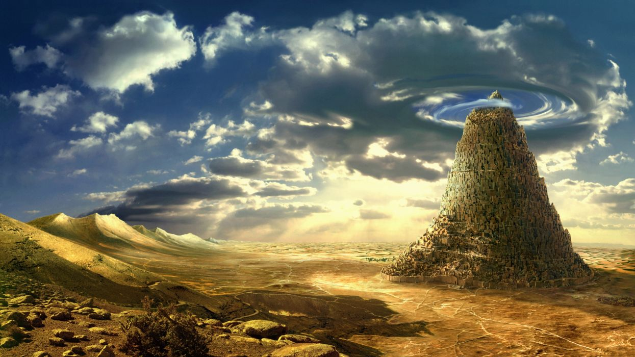 fantasy tower Babel Babel tower fantasy wallpaper