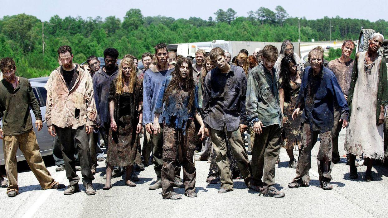 THE WALKING DEAD horror drama dark zombie   ge wallpaper