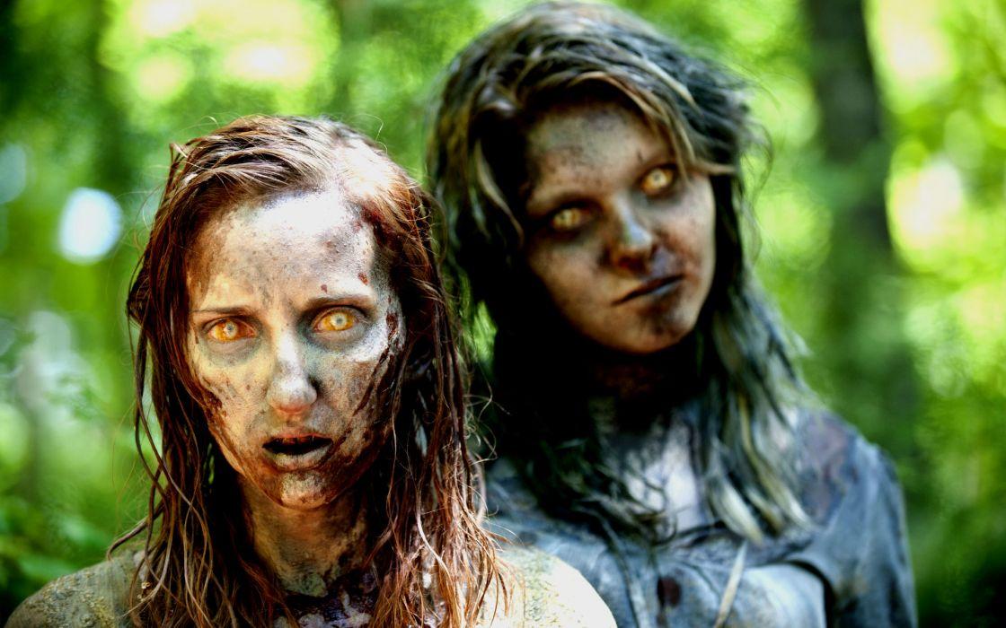THE WALKING DEAD horror drama dark zombie  dg wallpaper